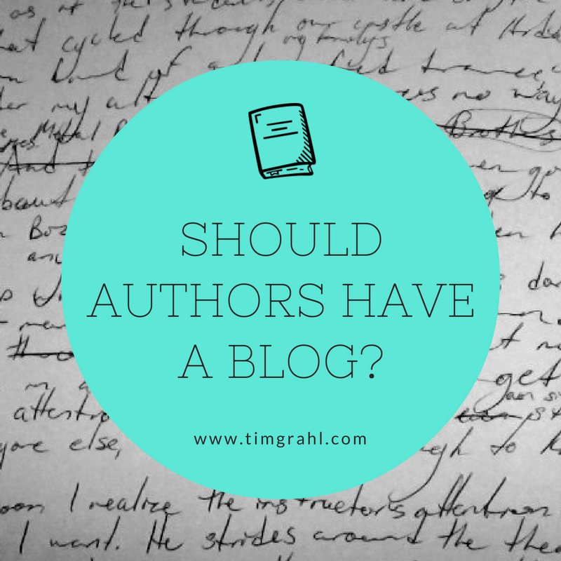 Should authors have a blog?