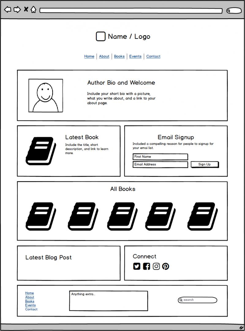 Author Website Template 2