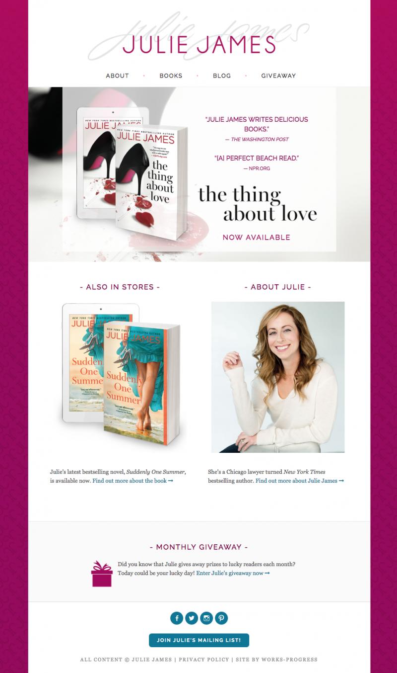Julie James Author Website