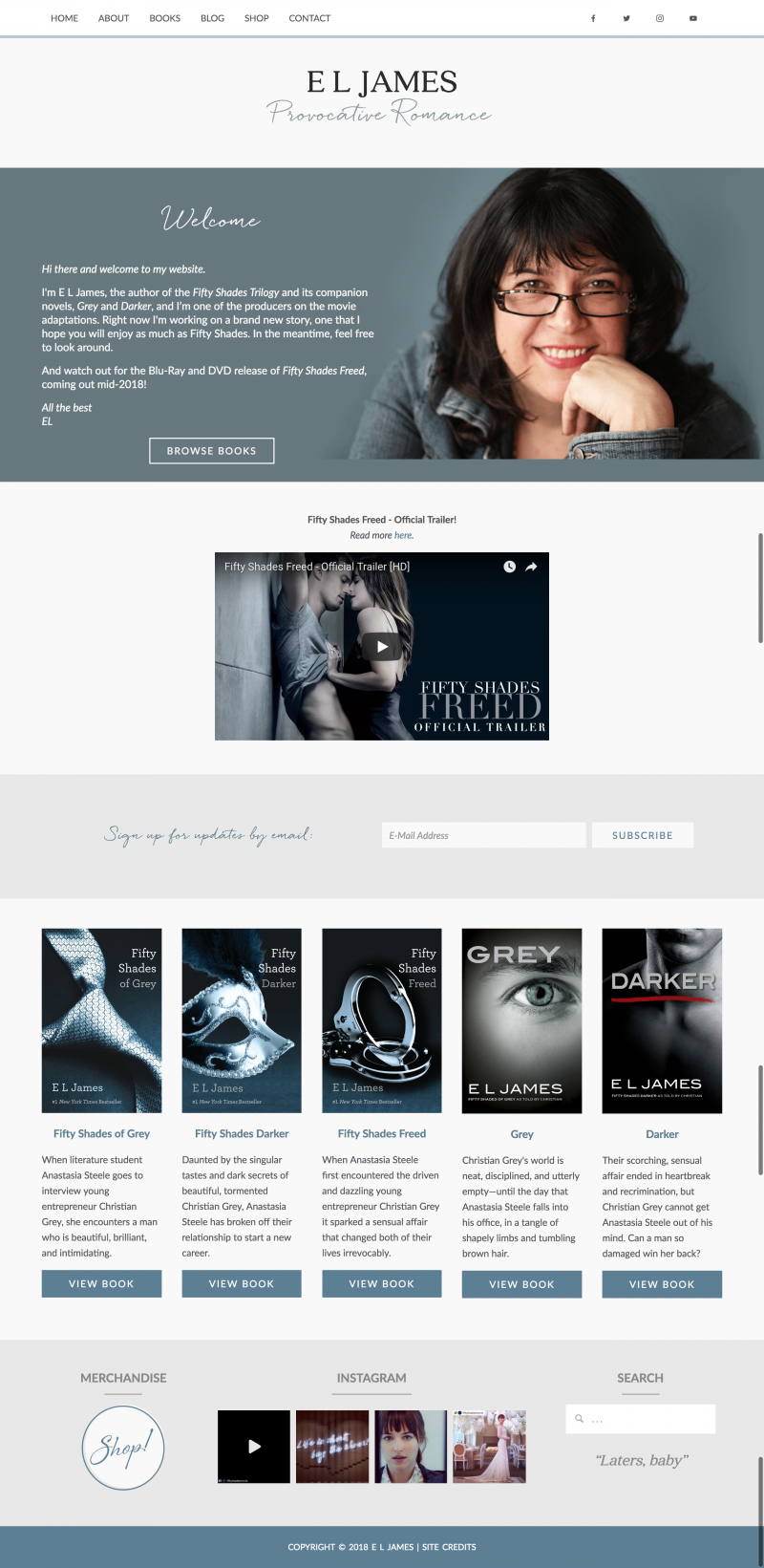 E.L. James Author Website