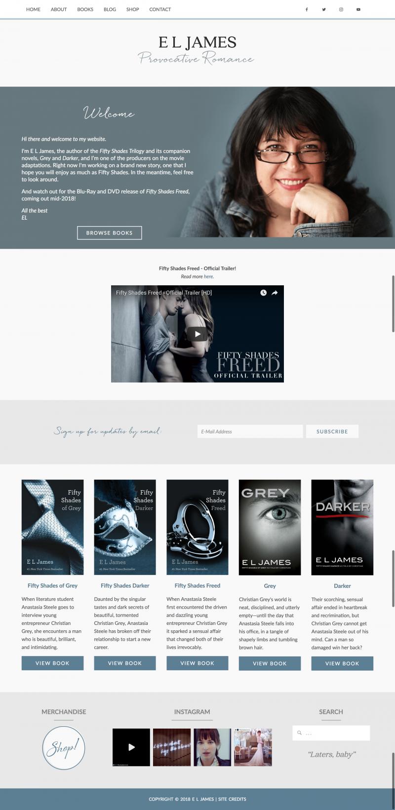 E.L. James Author Website