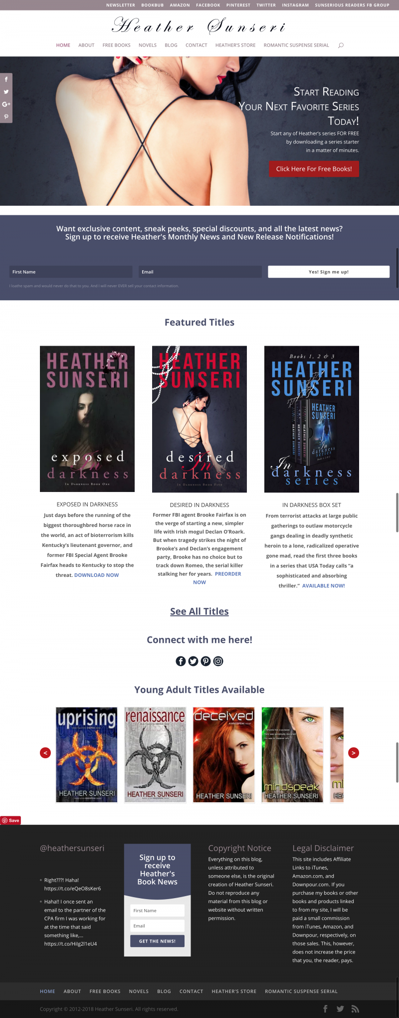 Heather Sunseri Author Website